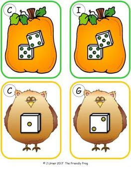 Halloween Counting 1-10 {Subitizing with Dice}