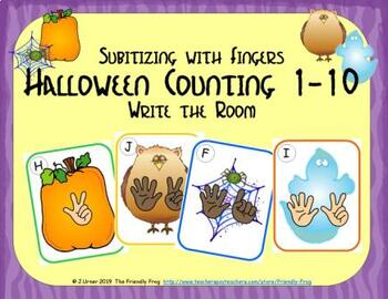 Halloween Counting 1-10 {Subitizing with Fingers}
