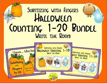 Halloween Counting 1-20 Bundle {Subitizing with Fingers}