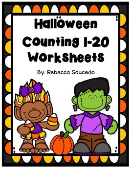 Halloween Counting 1-20 Math Worksheets