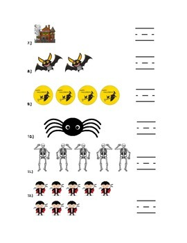 Halloween Counting 1-8