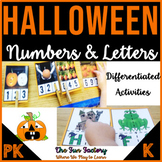Halloween Counting Activities and Letter Puzzles - Centers
