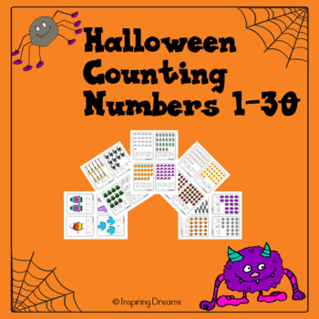 Halloween Counting Activity Numbers 1-30