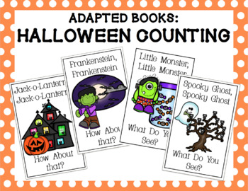 Halloween Counting Adapted Books