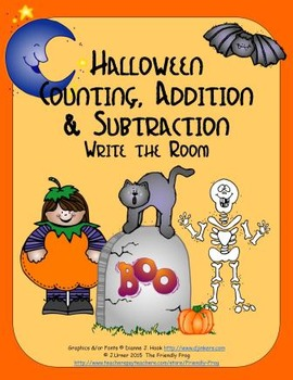 Halloween Counting, Addition & Subtraction: Write the Room