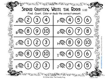 Halloween Counting, Addition & Subtraction with Ten Frames {Subitizing}