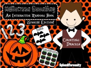 Halloween Counting: An Interactive Reading Math Book SPANISH Edition