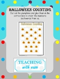 Halloween Counting Backwards from 20 - Difficult