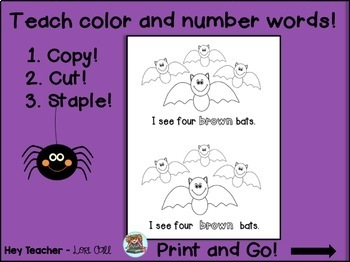 Pre-K and Kindergarten Math & Reading Halloween FREE!