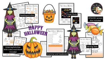 Halloween Counting Book Study - Two Little Witches