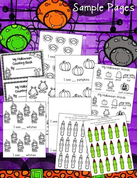 Halloween Counting Book with Witch Pointing Finger!