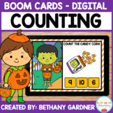 Halloween Counting - Boom Cards - Distance Learning