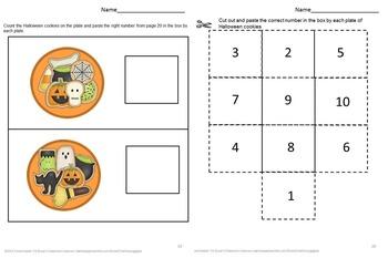 Halloween Counting Bundle-NO PREP/LOW Prep Math Printables Centers