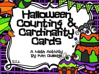 Halloween Counting & Cardinality Cards for Kindergarten 1