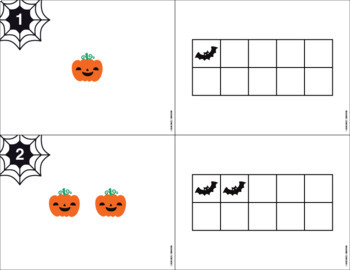 Halloween Counting Cards (1-10) with Matching Ten Frames