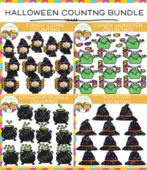Halloween Counting Clip Art Bundle