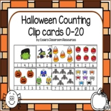 Halloween Counting Clip Cards 0-20