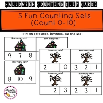 Halloween Counting- Clip Cards