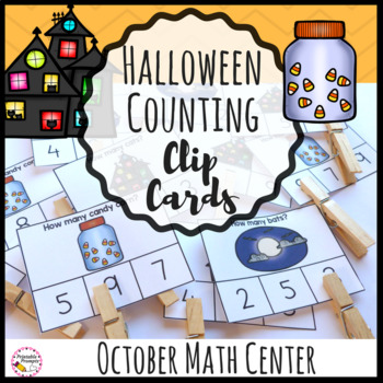 Halloween Counting Clip Cards Math Center