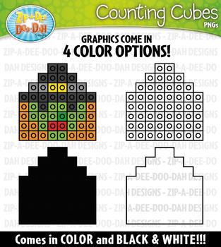 Halloween Counting Cubes Clipart {Zip-A-Dee-Doo-Dah Designs}