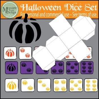 Halloween Counting Dice & Pumpkin Clip Art Set {Messare Cl