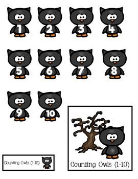 Halloween: Counting File Folders (1-10)