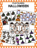 Halloween: Counting File Folders (1-10)