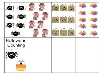 Halloween Counting - Folder/memory game
