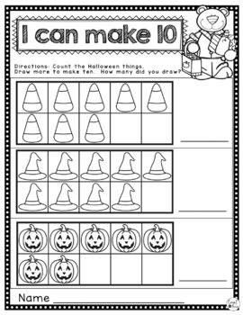 Halloween Counting Freebie