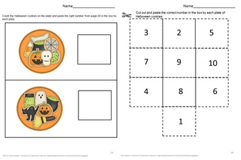 Halloween Math Activities Fine Motor Special Education Early Childhood