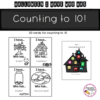 Halloween Counting Game {I Have Who Has}