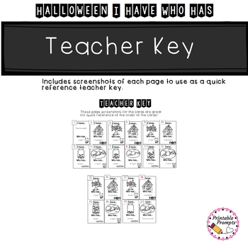 Halloween Math Game {Counting I Have Who Has}