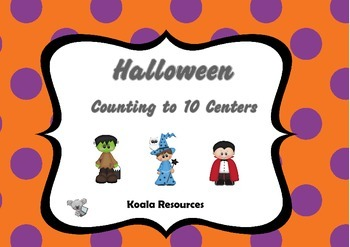 Halloween Counting Kit Counting to 10 Centers