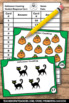 Halloween Math Kindergarten Counting Task Cards, Halloween Counting
