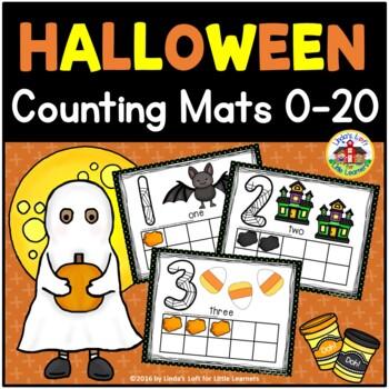 Halloween Play Dough Counting Mats 0-10