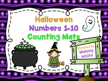 Halloween Counting Mats 1-10