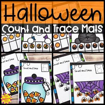 Halloween Counting Mats Numbers 0-10 | Halloween Math Center Activity