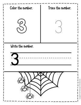Halloween Counting Notebook Preschool Worksheets