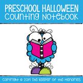 Halloween Counting Notebook Preschool Worksheets