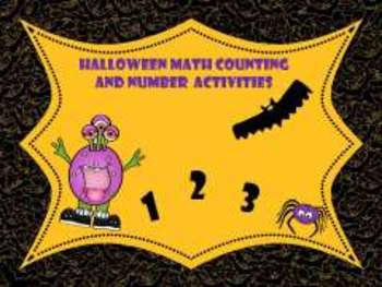Halloween Counting, Number Math Activities; Special Education; Kindergarten