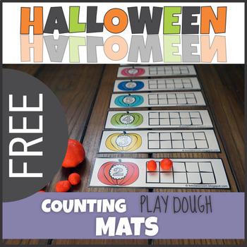 Halloween Counting Play Dough Mats