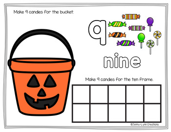 Halloween Counting Play-dough Mats