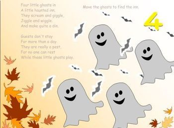 Halloween Math SmartBoard Counting Poems for Numbers 1 - 10
