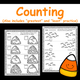 """Halloween Counting Practice - (Includes """"Greatest"""" and """"Le"""