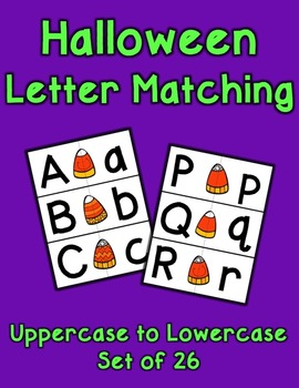 Candy Corn Letter Matching - Set of 26