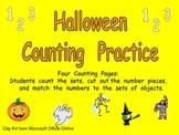 Halloween Counting Sets Independent Practice for Kindergarten