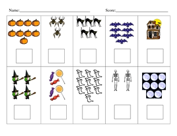 Halloween Counting Sets Test