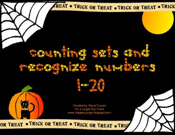 Halloween Counting Sets and Recognizing Numbers 1-20