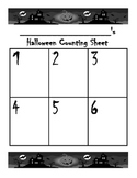 Halloween Counting Sheet