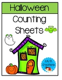 Halloween Counting Sheets - Numbers 1-5